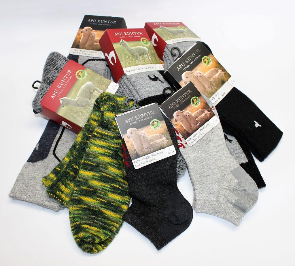 Auswahl an Alpaka Socken